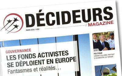 Intervention de Caroline Ruellan dans le dossier du mois du magazine Décideurs