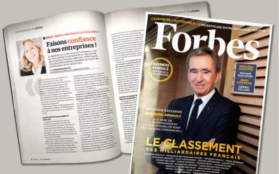 Caroline Ruellan / Forbes : «Faisons confiance à nos entreprises !».