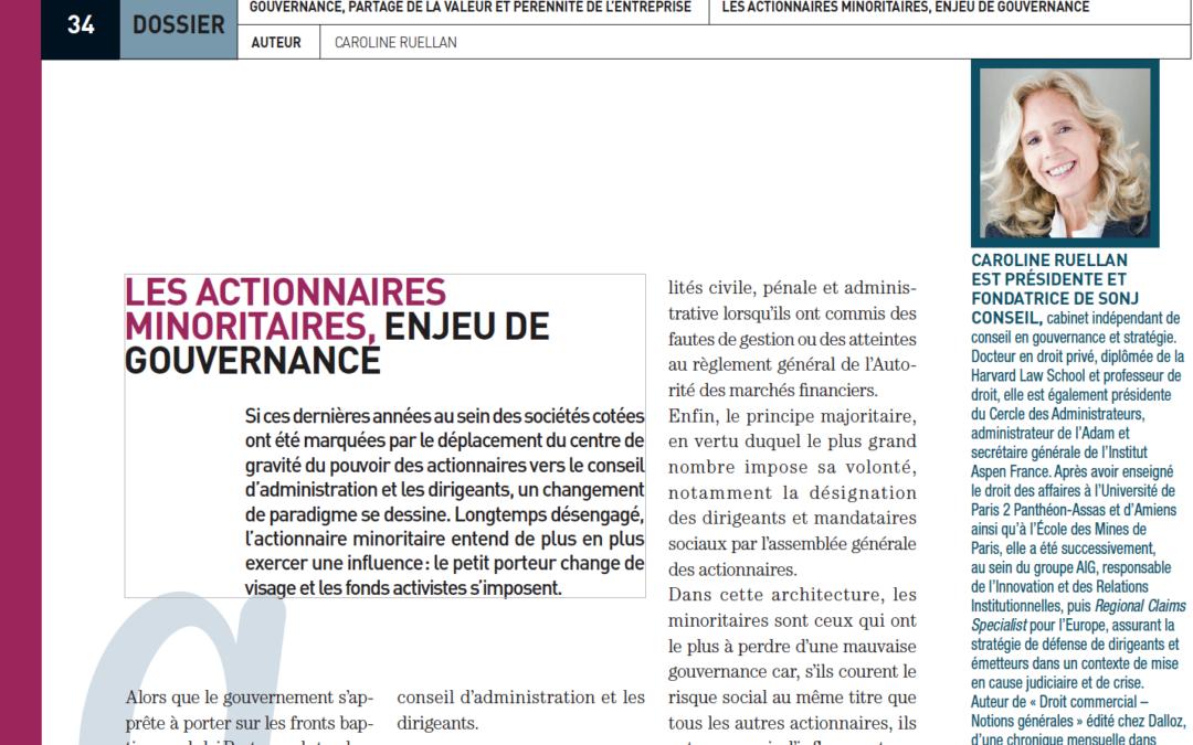 Caroline Ruellan / SFAF : « Les actionnaires minoritaires, enjeu de gouvernance »